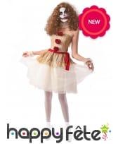 Robe de clown vintage élégante pour femme