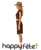 Robe de cowgirl pour ado, marron, image 1