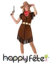 Robe de cowgirl pour ado, marron