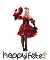 Robe de danseuse espagnole rouge et noir, femme