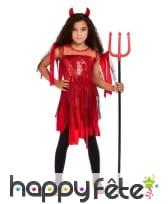 Robe de diablesse en lambeaux pour enfant
