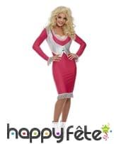 Robe de Dolly Parton rose et dorée pour femme, image 1