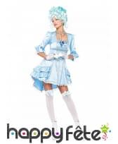 Robe de duchesse bleue sexy pour adulte