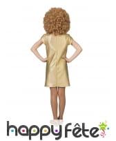 Robe disco dorée pour fille, image 1