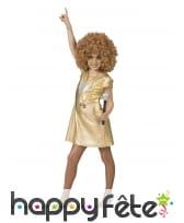 Robe disco dorée pour fille