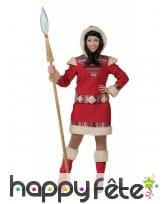 Robe d'esquimau rouge pour femme