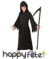 Robe de Faucheur noir pour enfant