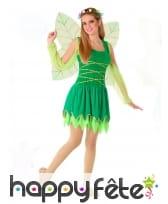 Robe de fée verte pour adolescente