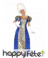Robe d'impératrice bleue pour femme