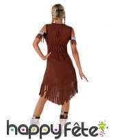 Robe d'indienne marron pour ado, image 2