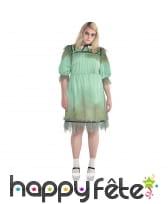 Robe de jeune fille fantôme grande taille femme