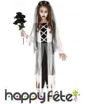 Robe de jeune mariée fantôme avec voile, enfant