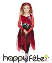 Robe de mariée vampire avec dentelles pour fille