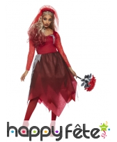 Robe de mariée vampire en dentelle rouge, adulte, image 1