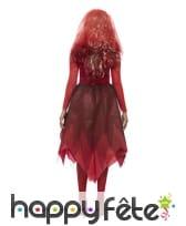 Robe de mariée vampire en dentelle rouge, adulte, image 2
