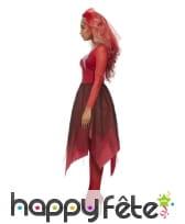 Robe de mariée vampire en dentelle rouge, adulte, image 3