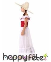 Robe de Mexicaine pour enfant, blanche et rouge, image 1