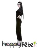 Robe de Morticia Addams avec perruque, pour femme, image 1