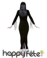 Robe de Morticia Addams avec perruque, pour femme, image 2