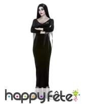 Robe de Morticia Addams avec perruque, pour femme, image 3
