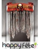 Rideau de porte Halloween, cirque terrifiant