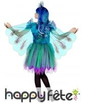 Robe de paon bleu pour fille, image 1