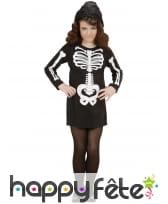 Robe de petit squelette noir avec capuche, image 1