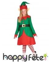 Robe de petite Elfe de Noel