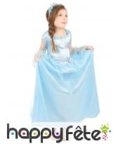 Robe de petite princesse bleue avec serre tête