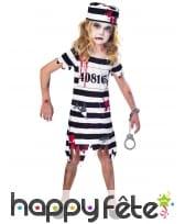 Robe de petite prisonnière zombie ensanglantée