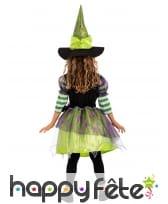 Robe de petite sorcière avec araignée et chapeau, image 1