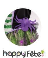 Robe de petite sorcière avec araignée et chapeau, image 2