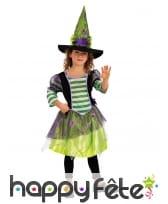 Robe de petite sorcière avec araignée et chapeau