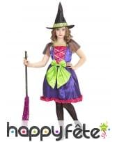 Robe de petite sorcière multicolore
