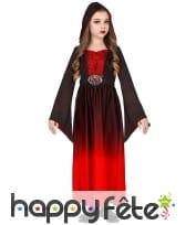 Robe de petite vampire dégradé rouge et noir, image 1