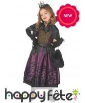 Robe de petite vampire noire et violette, image 1