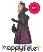 Robe de petite vampire noire et violette, image 2