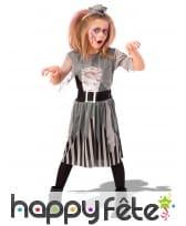 Robe de pirate zombie pour petite fille