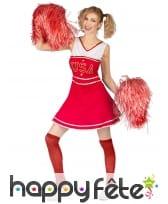 Robe de pompom girl rouge USA pour femme, image 1