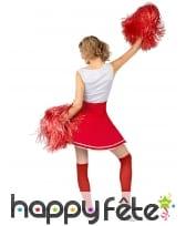 Robe de pompom girl rouge USA pour femme, image 2