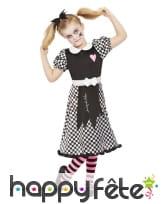 Robe de poupée brisée pour fille, noir et blanc, image 1