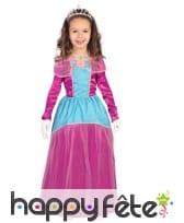 Robe de princesse des fleurs tissu satiné violet
