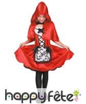 Robe du petit chaperon rouge avec cape pour fille