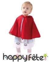 Robe du petit chaperon rouge pour bébé avec cape, image 1
