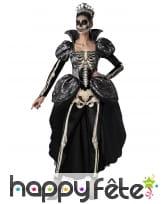 Robe de reine squelette pour femme adulte