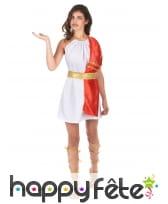 Robe de romaine blanche étole rouge, image 3