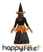 Robe de sorcière chauve-souris noir et orange, image 1