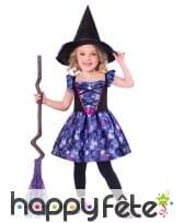 Robe de sorcière pour enfant en tissu recyclé