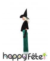 Robe de sorcière verte et échancrée pour femme, image 1