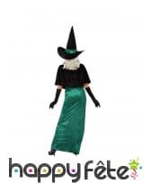 Robe de sorcière verte et échancrée pour femme, image 2